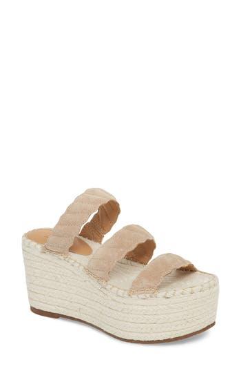 Marc Fisher Ltd Rosie Espadrille Platform Sandal- Beige