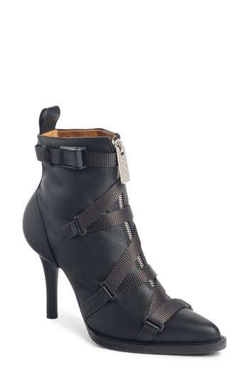 Chloe Tracy Strap Bootie, Black