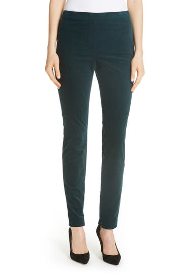 Theory Oslo Corduroy Leggings, Green