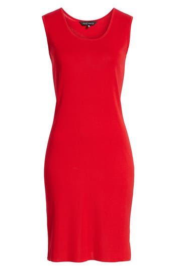 Ming Wang Knit Sheath Dress, Red