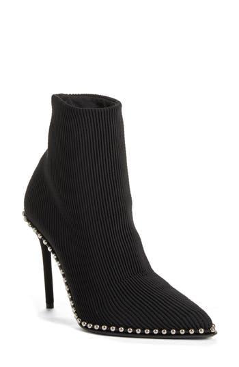 Alexander Wang Eri Studded Sock Bootie, Black