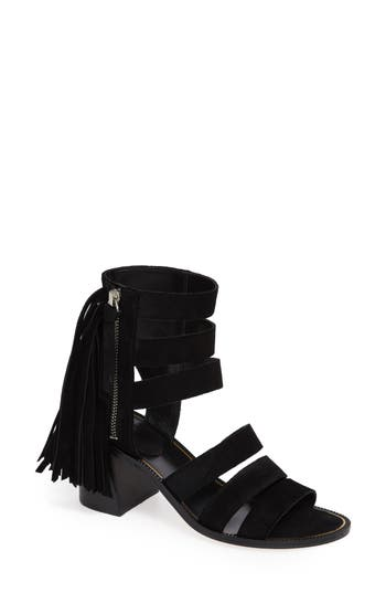 Marc Fisher Ltd Collin Fringe Sandal, Black