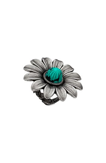 Gg Marmont Flower Ring, Sterling Silver