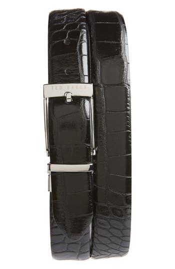 Ted Baker London Penna Reversible Leather Belt, Black