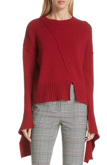Deconstructed Sweater in Red