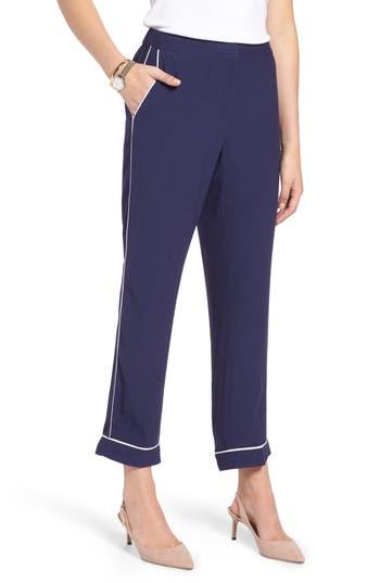 1901 Ankle Pajama Pants, Blue
