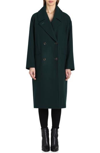 Vintage Coats & Jackets | Retro Coats and Jackets Womens Badgley Mischka Cameron Double Breasted Wool Coat $329.00 AT vintagedancer.com