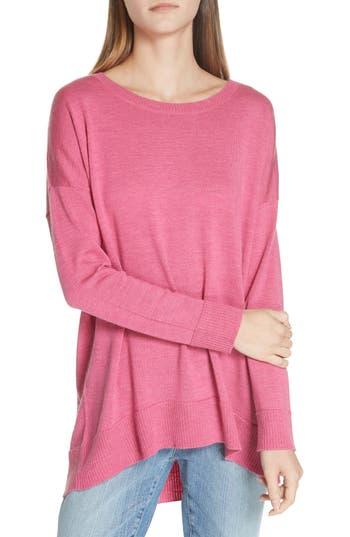 Eileen Fisher Merino Jersey Ballet Neck Tunic, Pink