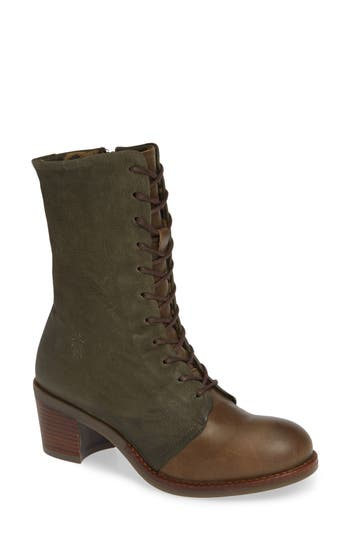 Fly London Zeko Lace-Up Boot - Green