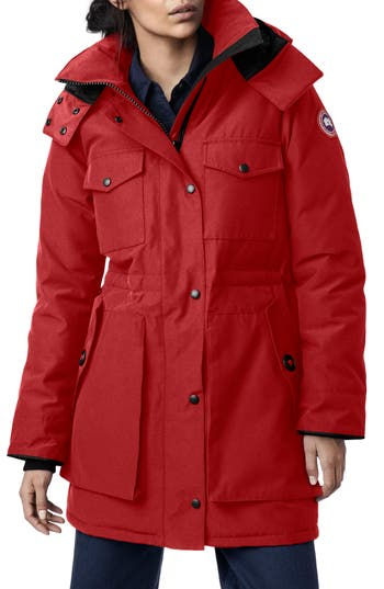 Canada Goose Gabriola Water Resistant Arctic Tech 625 Fill Power Down Parka, (0) - Red