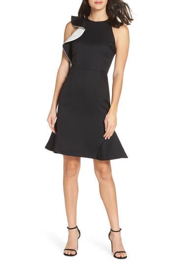 Cooper St Jasmine Contrast Ruffle Dress, Black