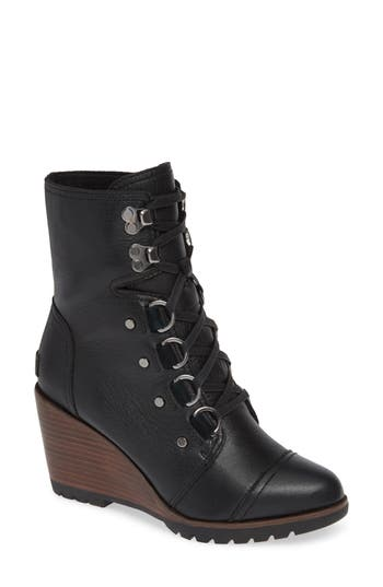 Sorel After Hours Lace-Up Waterproof Boot- Black