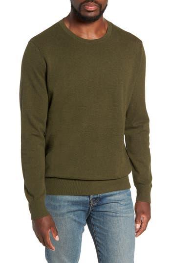 J.crew Cotton & Cashmere Pique Crewneck Sweater, Grey