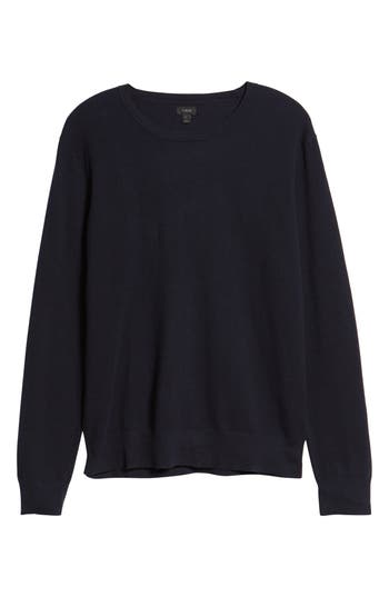 J.crew Cotton & Cashmere Pique Crewneck Sweater, Blue