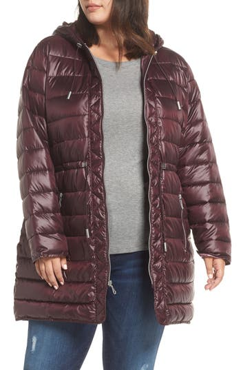 Plus Size Kenneth Cole New York Packable Quilted Parka, Red