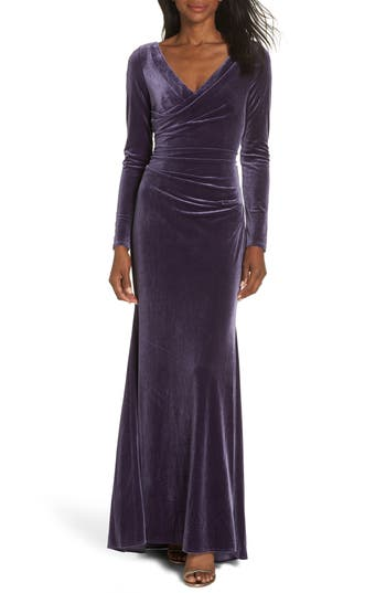 1930s Evening Dresses | Old Hollywood Dress Womens Vince Camuto Velvet Gown Size 18 similar to 14W - Purple $208.00 AT vintagedancer.com