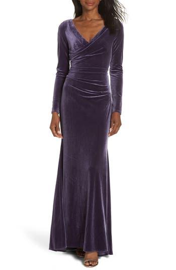1930s Dresses | 30s Art Deco Dress Womens Vince Camuto Velvet Gown Size 18 similar to 14W - Purple $208.00 AT vintagedancer.com