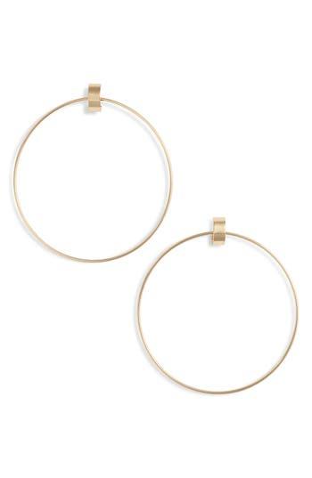 Faye Large Door Knocker Earrings, Gold