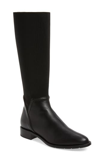 Aquatalia Nanina Weatherproof Riding Boot, Black