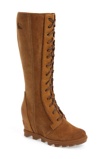 Sorel Joan Of Arctic Ii Waterproof Wedge Boot, Brown