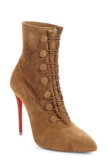 Christian Louboutin French Tutu Pointy Toe Bootie - Brown