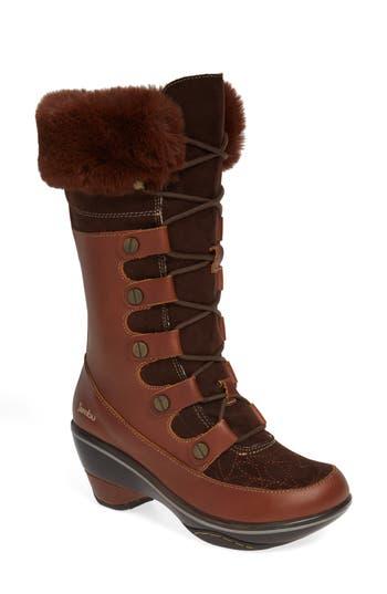 Jambu Cruiser Faux Fur Trim Boot, Brown