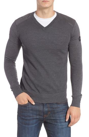 Canada Goose Mcleod V-Neck Merino Wool Sweater, Grey