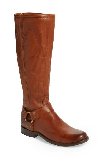 Phillip Harness Tall Boot, Whiskey Leather