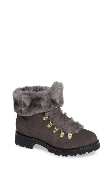 Jack Rogers Charlie Faux Shearling Lined Bootie, Grey