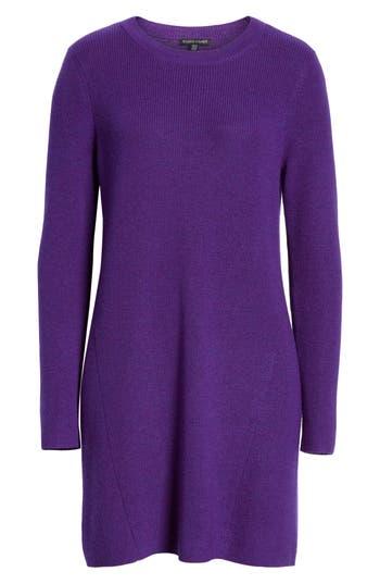 Eileen Fisher Round Neck Merino Wool Tunic, Purple