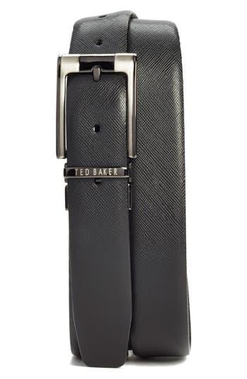 Big & Tall Ted Baker London Reversible Leather Belt, Black/ Brown