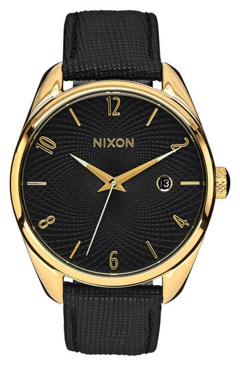 Women's Nixon 'The Bullet' Leather Strap Watch, 38Mm