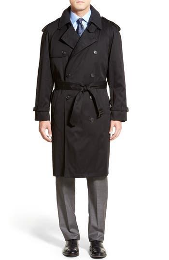 Men's Big & Tall Hart Schaffner Marx Barrington Classic Fit Cotton Blend Trench Coat
