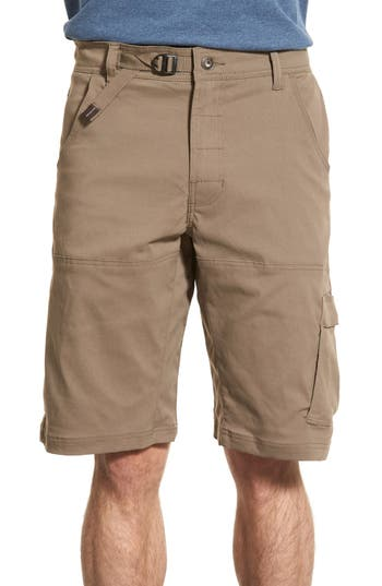 Prana Zion Stretchy Hiking Shorts, Brown