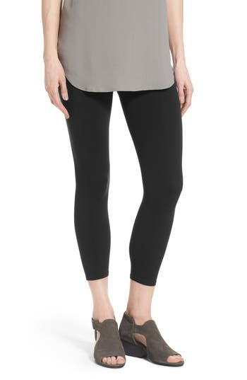 Eileen Fisher  ORGANIC COTTON CROP LEGGINGS