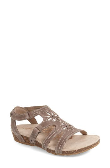 Women's Aetrex 'Natasha' Gladiator Sandal, Size 9 M - Grey