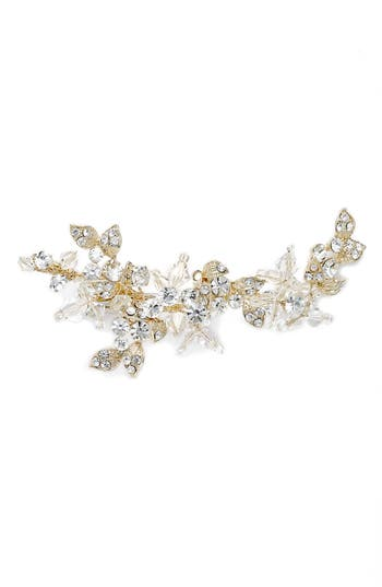 Brides & Hairpins Olivia Jeweled Hair Clip, Size One Size - Metallic