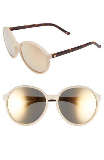 Unique Retro Vintage Style Sunglasses & Eyeglasses Womens Electric Riot 58Mm Round Sunglasses - Nude Tortoise Grey Gold $120.00 AT vintagedancer.com