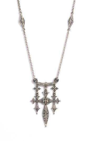 Women's Konstantino 'Penelope' Triple Cross Pendant Necklace