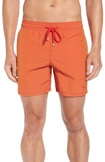 Men's Vilebrequin Microstripe Swim Trunks