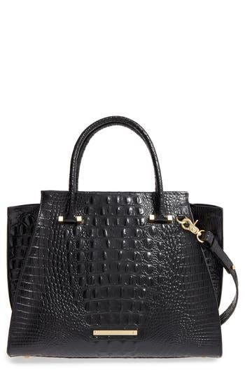 Brahmin 'Priscilla' Croc Embossed Leather Satchel -