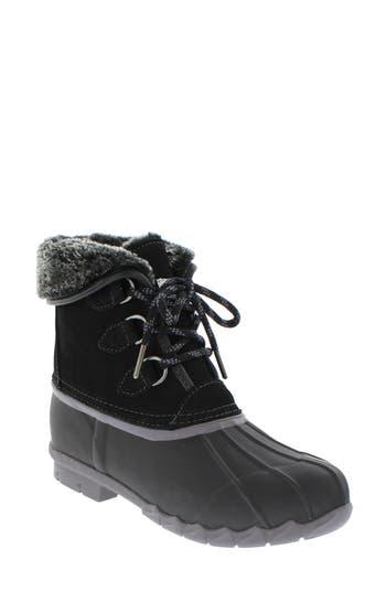 SPORTO Defrost Faux Fur Lined Duck Boot in Black/ Black