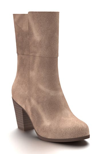 Shoes Of Prey Block Heel Boot - Brown