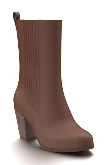 Shoes Of Prey Mid Calf Boot - Brown