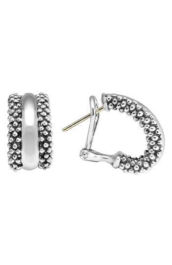 Women's Lagos Caviar™ Sterling Silver Hoop Earrings