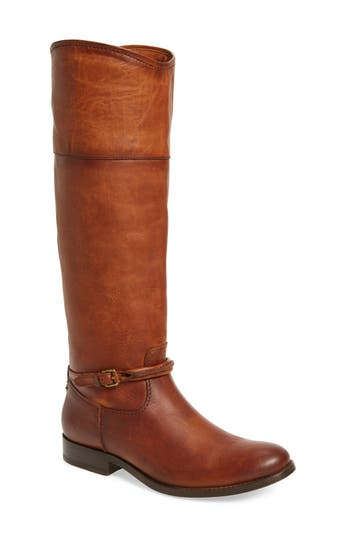 Frye Melissa Seam Boot Regular Calf- Brown
