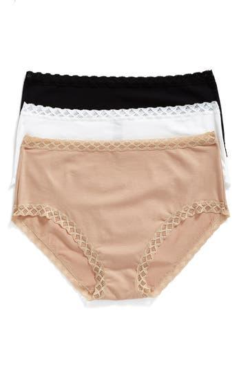 Women's Natori Bliss 3-Pack Cotton Full Briefs