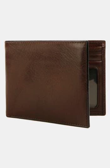 Bosca Leather Bifold Wallet - Brown