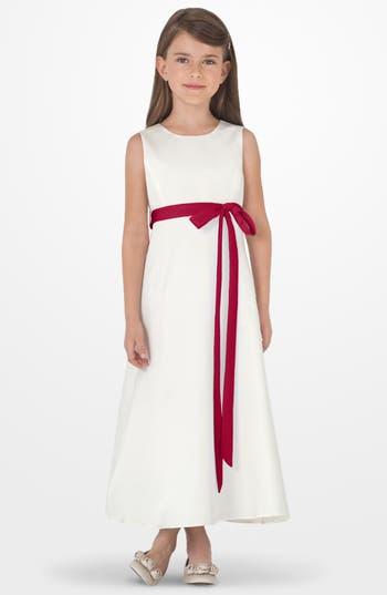 Girl's Us Angels Sleeveless Satin Dress, Size 6X - Red