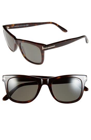 Men's Tom Ford 'Leo' 52Mm Polarized Sunglasses - Shiny Classic Havana